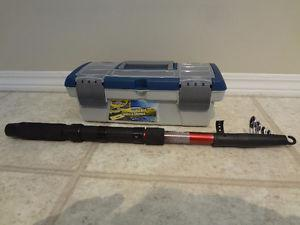 $30 - New Telescopic Rod & tackle box. Great for a gift.