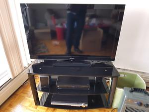 """40"""" TV with stand and stereo"""