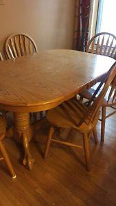 7 piece solid oak dining room set