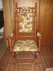Antique Early 's Platform Rocking Chair
