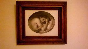 Antique Print & Frame