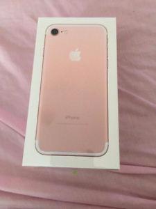 Brand New Unlocked 128 GB iPhone 7 Rose Gold