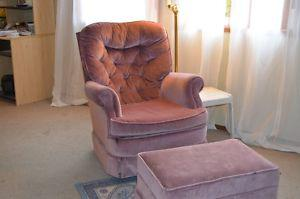 CHAIR AND FOOT STOOL