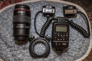 Canon 100mm 2.8L Macro Lens and a Macro Twin Lite MT-24EX