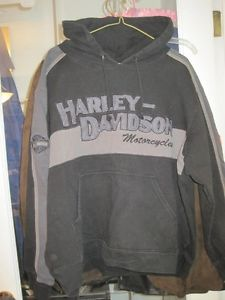 Harley Davidson Heavy Fleece Pullover Embroidered Logo