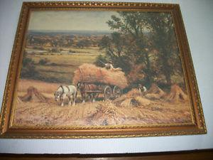 Large Nicely Framed Picture of Days Gone By by Alfred