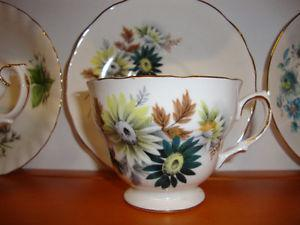 Large Selection of Antique Cups and Sausers