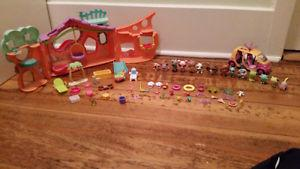 Littlest Pet Shop toys and house