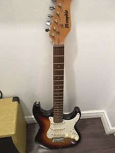 Memphis electric guitar and Epiphone amp