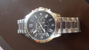 Mens Stainless Steel Fossil Watch