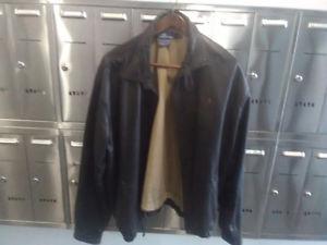 Polo Ralph Lauren Black Leather Jacket