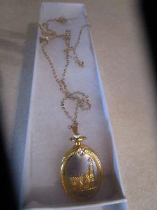 Quality! Thomas Kinkade Chain/Necklace Watch!