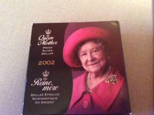 The Queen Mother Proof Sterling Silver Dollar
