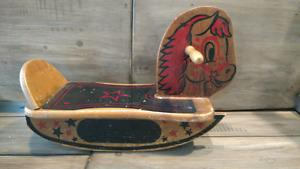 Vintage 's Gerber wooden rocking horse
