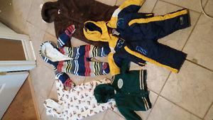 baby boy winter gear 6 - 12 months (boots size 3)