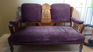 's Antique Eastlake Love Seat
