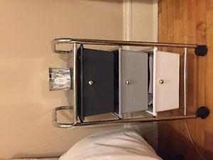 3 set of Drawers on Wheels - can be a night table