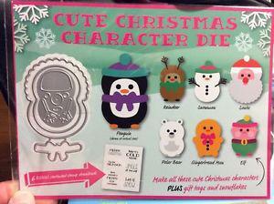 Cute Christmas Character Die - New in Package