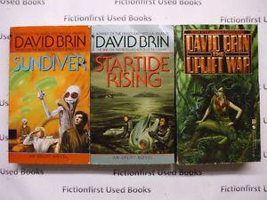 """First Uplift Trilogy"" by: David Brin"