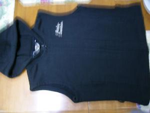 Lady's Hooded Black Harley Davidson Cotton Vest