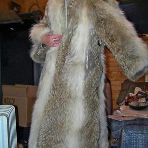 REDUCED $ Full Length Coyote Coat For Sale