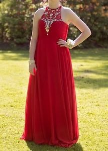 Red Prom Dress with sequence