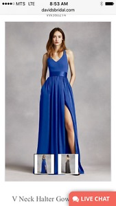 Royal blue Vera wang gown for sale