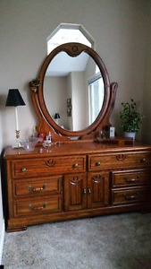 Solid Wood Dresser and Armoire (wardrobe) set