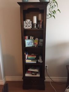 Solid wood wicker emporium shelf
