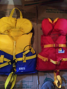 Two kids life jackets for sale