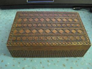 Vintage Hand Made, Hand Detailed, Custom Wood Box (Poland)