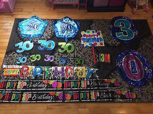 30th birthday decoration lot