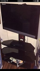 """51"""" Vizio tv with mounted stand"""