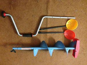 """6"""" Ice fishing Hand Auger like new.."""