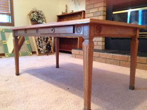 Ancient solid wood coffee table, perfect condition