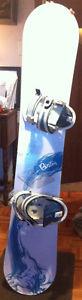 Burton Blue and White Snowboard 150 cm
