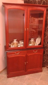 China cabinet with china for sale in north battleford