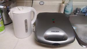 Electric tea kettle and waffle maker