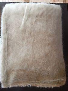 Indigo faux fur Throw Blanket