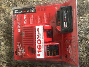 Milwaukee M18 Battery and Charger Brand new in the box -