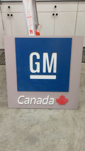 Nice Early 80s Metal GM Canada Sign Single Sided