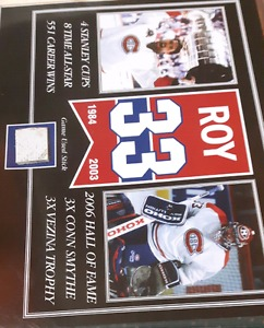 Patrick Roy  Game used stick picture