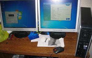 SALE*3Ghz E Core 2 Duo 2GB RAM dual LCD monitor computer