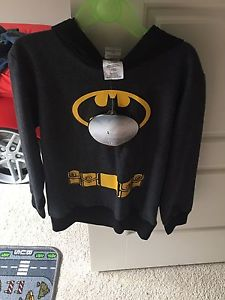 Size 5T Batman with hoodie and cape, Brand new with tag on