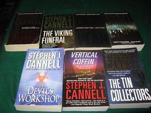 Stephen J cannel books $1 each or $5 for the lot