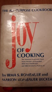 THE JOY OF COOKING the best basic cookbook.