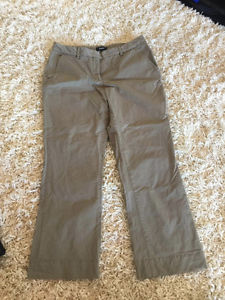 Theory olive green crop chinos