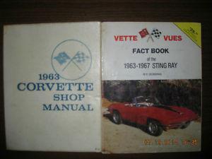Vintage  Corvette Shop Manual & Vette-Vues Fact Book...