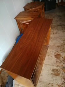 shoe cabonets, coffee table and plastic drawer system