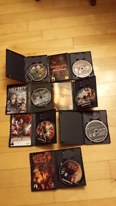 10 PS2 games Grand Theft Auto, Call of Duty,God of War +